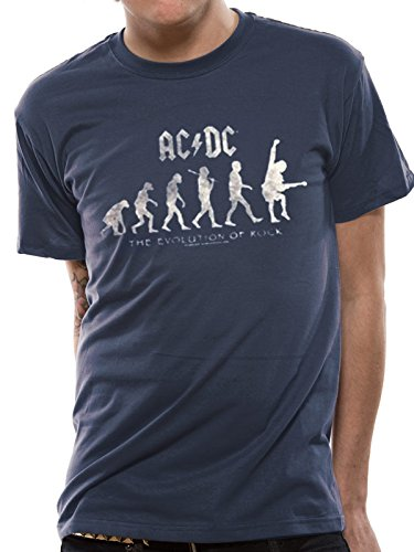 Cid AC/DC-Evolution of Rock T-Shirt Homme, Multicolore, FR : M (Taille Fabricant : M)