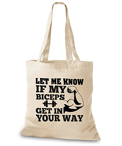 StyloBags Jutebeutel / Tasche Let me know if my Biceps get in your Way Natur