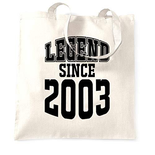rtstag Tragetasche Legend Seit 2003 Slogan Sechzehn White One Size ()