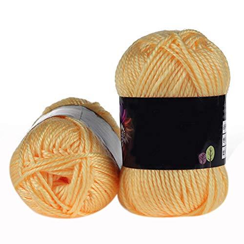1matassa morbido bambù uncinetto cotone 50g filato baby maglione maglia di lana filato-geshiglobal #4