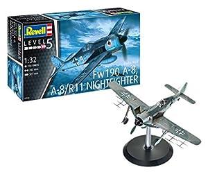 Revell- Focke Wulf Fw190A-8, A-8/R11 Nightfighter, Kit de Modelo, Escala 1: 32 (03926)