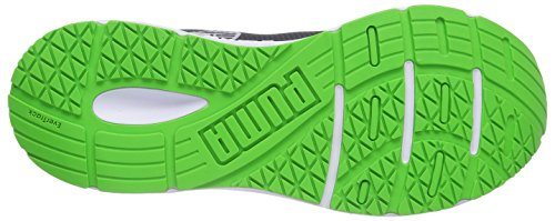 Puma Sequence Herren Hallenschuhe Grau (03 turbulence-black-fluo green)