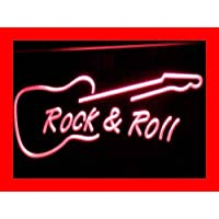 ADV PRO i303-r Rock and Roll Guitar Music NEW Neon Light Sign