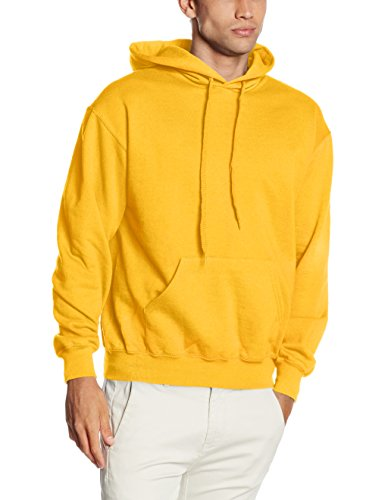 Fruit of the Loom Herren Kapuzenpullover SS026M, Gelb-Yellow (Sunflower Yellow), L