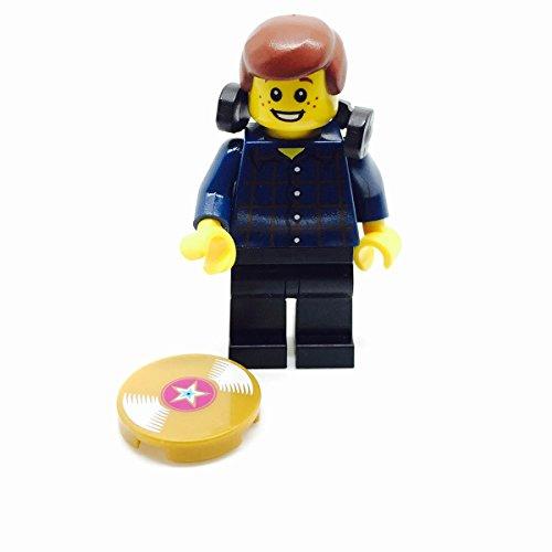 Signature Bricks LEGO DJ Minifigure with Vinyl Music and Headphones