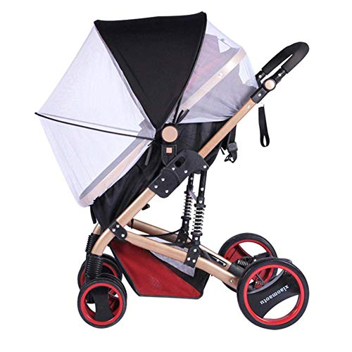 YIDAINLINE Universal Verstellbar 2-in-1 Baby Buggy Sonnenschutz Moskitonetz Markise wasserdicht und winddicht Anti-UV Regenschirm Baldachin Universal passend für Kinderwagen weiß (Weiß) -