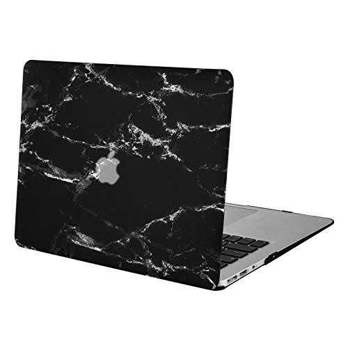 MOSISO Hülle Kompatibel mit MacBook Air 13 - Ultra Slim Plastik Matt Hartschale Case mit Muster Kompatibel mit MacBook Air 13 Zoll (A1369 / A1466, 2010-2017 Version), Schwarz Marmor