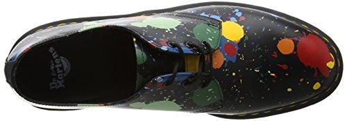 Dr. Martens 1461, Scarpe Ficelle Unisexe-adulto Nero (noir Splatter Lisse)