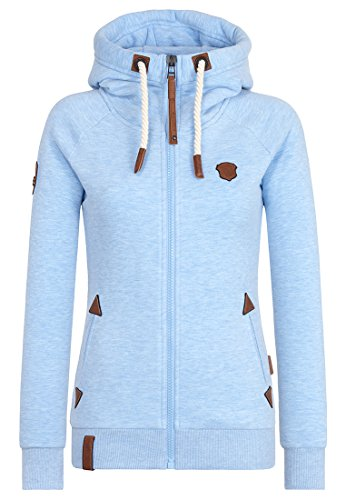 Naketano Blonder Engel IV W sweat zippé à capuche Amazing blue Melange