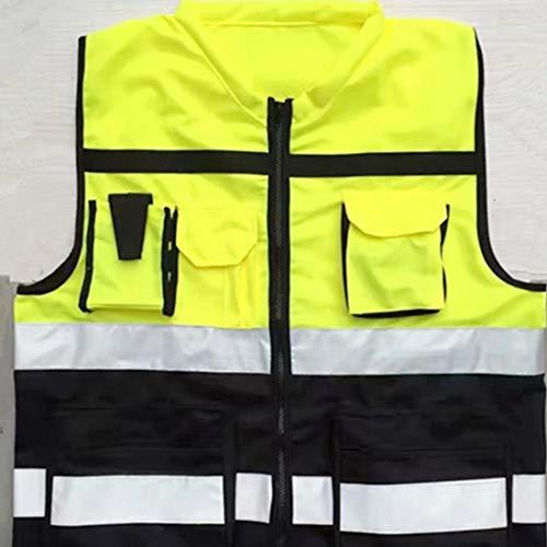 FELICIPP Reflektierende Weste Sicherheitsweste fluoreszierender Gurt einzigartige hohe Sichtbarkeit Arbeit Scherz Fahrrad Fahrrad Verkehrswache Nacht Sicherheit Führung fluoreszierende Reflexion siche