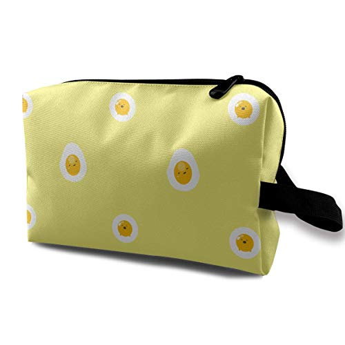 Yellow Cartoon Avocado Small Travel Toiletry Bag Super Light Toiletry Organizer for Overnight Trip Bag