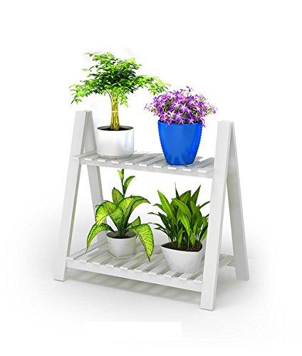 YYJRR-Eckregale Regal im Wohnzimmer Schlafzimmer Küche Einfache Weiße Blume Regal Massivholz...