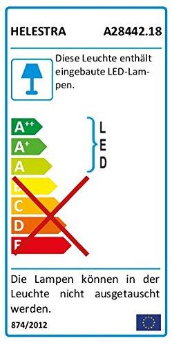 Helestra LED-Wandleuchte, Aluminium, nickel, 15 x 15 x 15 cm