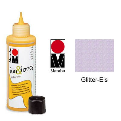 Marabu Window Color fun&fancy, Glitter-Eis 589, 80 ml