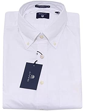 5708Q camicia uomo GANT REGULAR FIT PINPOINT OXFORD bianco shirt long sleeve men