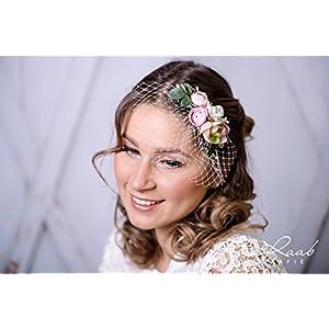 Braut Haarkamm Blüten Wedding Hairdress bridal Frisur Hochzeit Haarschmuck AH4