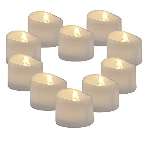 Raycare 36 LED flammenlose Kerzen, 3.8cm Elektrische flackernde batteriebetriebene teelichter, LED votivkerzen Warme weiße