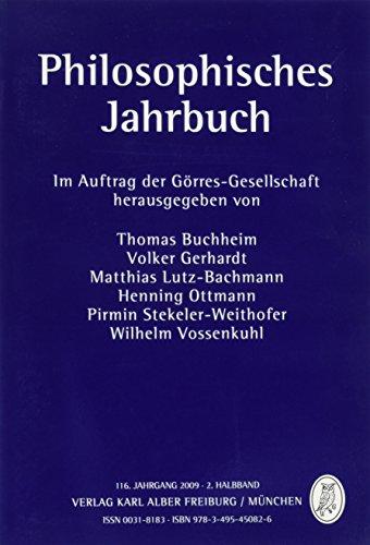 Philosophisches Jahrbuch: 116. Jahrgang 2009 - 2. Halbband