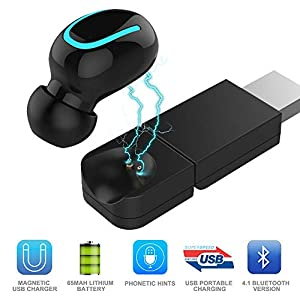 TechCode Bluetooth Kopfhörer Kabellose,In-Ear Ohrhörer Wireless Stereo Sport-Kopfhörer Funk-Kopfhörer Earbuds mit USB…