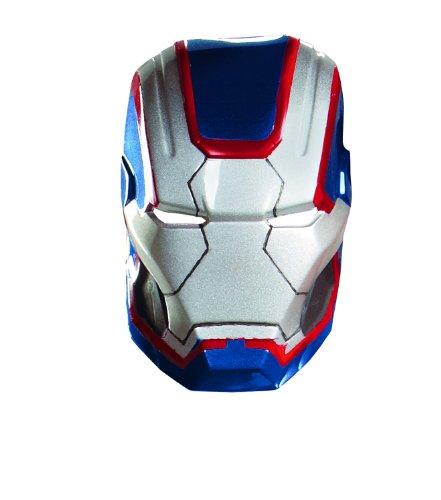 Disguise Marvel Iron Man 3 Iron Patriot Vacuform Maske Kostüm Zubehör, blau/rot, One Size Erwachsene