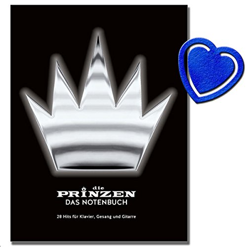 Die Prinzen Das Notenbuch - 28 Hits für Klavier, Gesang und Gitarre mit bunter herzförmiger Notenklammer