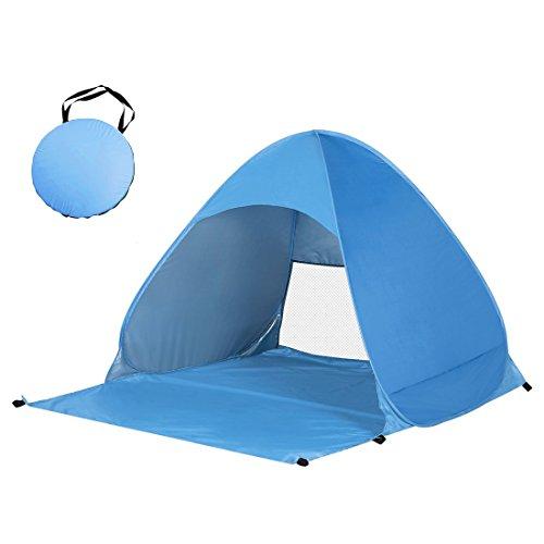 OUTAD - Tenda da Spiaggia Parasole Spiaggia POP UP per 2-3 Posti Protezione UV Apertura Istantanea Leggero da Portare per Spiaggia Giardino Palco
