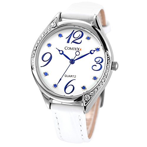 Comtex-Womens-Wrist-Watch-with-White-Dial-Analogue-Display-Ladies-Watches-Waterproof
