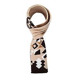 Sciarpe moda Retro geometrici Jacquard caldi scialli per l autunno inverno   dual-use ladies bavaglino 5692ad42ce12