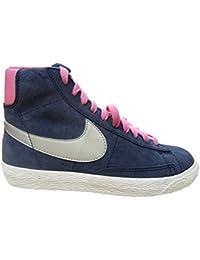 Nike - Zapatillas de Ante para niña gris Dark Grey/Violet/Black