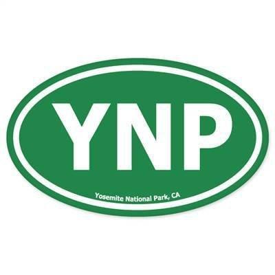 INDIGOS UG Aufkleber Autoaufkleber JDM Die Hart - Yosemite National Park Bumper Sticker oval 127mmx76mm