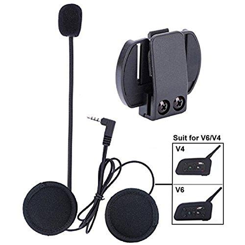 Mikrofon Kopfhörer Hard Cable Headset Zubehör Klinkenstecker für V6 / V4 Motorradhelm Interphone Motorrad Gegensprechanlage
