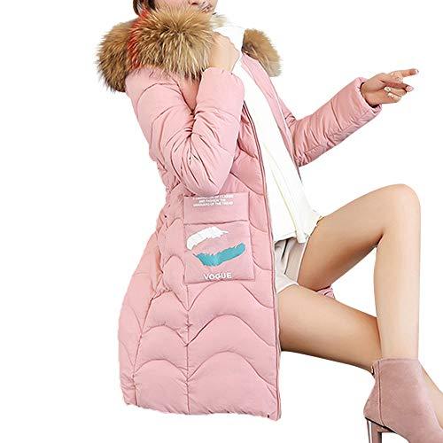 TianWlio Mäntel Frauen Weihnachten Damen Mantel Langarm Strickjacke Jacke Outwear Herbst Winter Kapuzen Outwear Warmer Mantel Langer Dickerer Pelzkragen Baumwolle Parka Schlanke Jacke