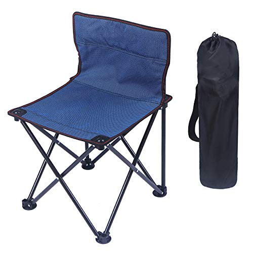 YANGMAN Chaise de Camping Pliante portative, Chaise portative légère pour la pêche, pêche, Pique-Nique sur la Plage, Jardinage, Chaise de Camping, avec Sac de Transport, capacité de 130 kg (1 pièce)