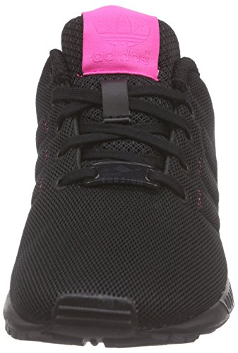adidas Zx Flux, Baskets Basses Mixte Enfant, Noir/Rose, 16 EU Noir (Core Black/Shock Pink S16/Shock Pink S16)