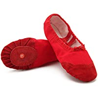 Dreamone Ballet Shoes Girls Kids Canvas Dance Slippers Flat Split Gymnastic Shoes for Women Ladies