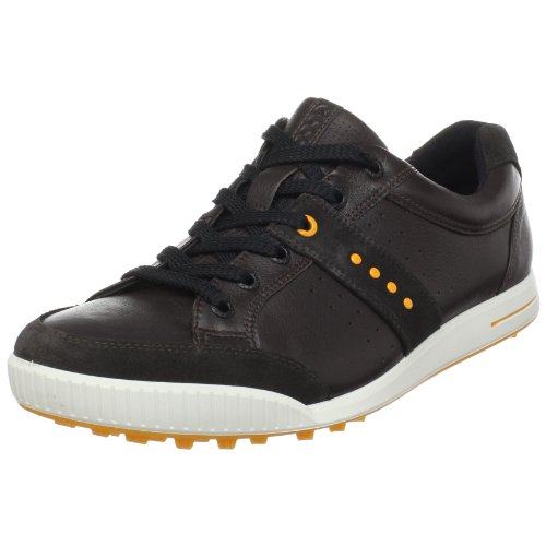 Ecco 2013 Herren Golf Schuhe Street Hydromax Wasserdicht - Licorice/Fanta - UK 6.5-7 EU40 -