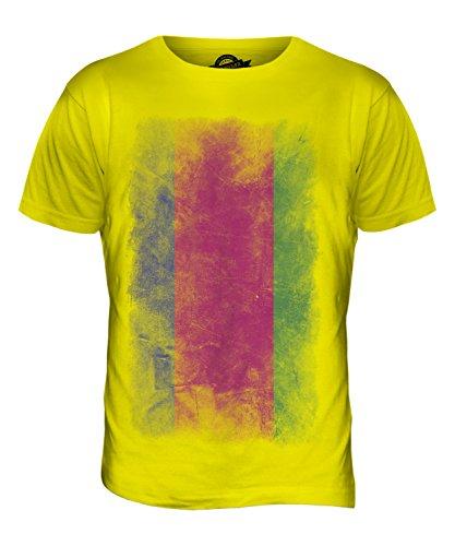 CandyMix Kuban-Gebiet Verblichen Flagge Herren T Shirt Zitronengelb