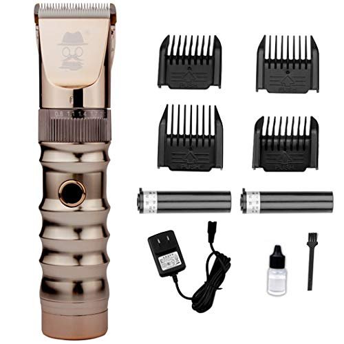 LIXIGA Professionelle Haarschneidemaschine Trimmer schnurlose Haarschneidemaschine Bartschneider mit LED-Anzeige wiederaufladbare nass und trocken