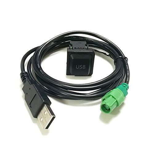 Auto USB Schalter Taste USB Kabel Adapter für RCD510 RCD310 CD Player Radio für Touran Bora Sagitar für Skoda Octavia Fabia - Cd-player Draht