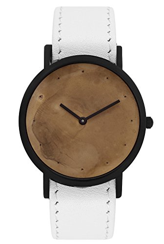 South Lane ' Swiss Quartz Stainless Steel and Leather Casual Watch, Color:Black (Model: swiss-bl-19)