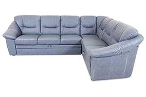 Sofa Rundecke Talos - mit Relax und Schlaffunktion - Grau