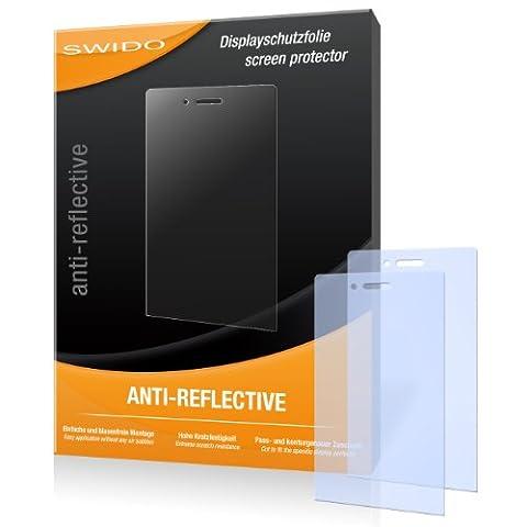 SWIDO X032936 antireflektierend hartbeschichtet Displayschutzfolie für Sony Xperia miro (2-er