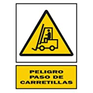 2349b35-Signal 210x 297PVC Pel Schritt carretil