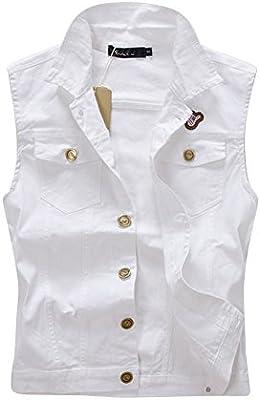 Chaleco De Vaquera Chaquetas De Mezclilla Abrigo Sin Mangas Denim Jackets Para Hombre