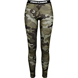 Urban Classics Ladies Logo, Leggings para Mujer, Mehrfarbig (Wood Camo 396), 48