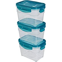 AmazonBasics 6pc Airtight Food Storage Containers Set, 3 x 1.0 Liter
