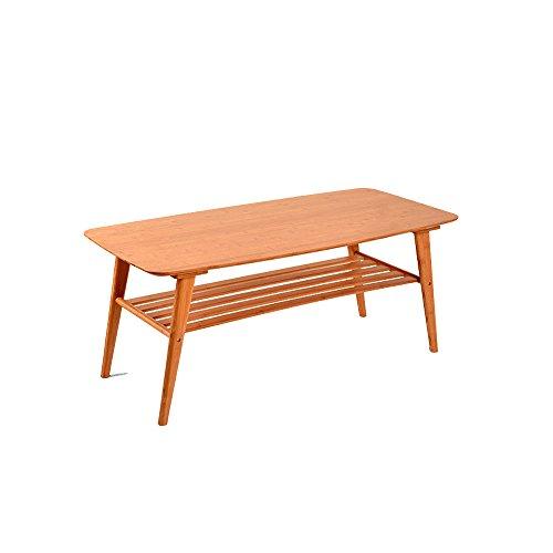 YANFEI Storage Tee Tabelle Modern Fashion Bambus Einfache 2 Schicht Couchtisch -