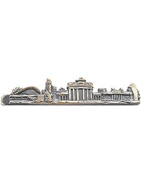 Berlin skyline Krawattenklammer Krawattennadel Berliner Sehenswürdigkeiten antiksilbern matt m.i. Germany + Geschenkbox