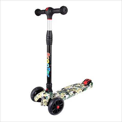Preisvergleich Produktbild BAYTTER® Kinderscooter Kinderroller Roller Scooter LED Blinken für Kinder ab 3 Jahren, in drei Höhen verstellbar und bis 100kg belastbar (Muster 3)