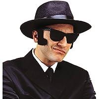 """Patillas gigantes negras """"Blues Brothers"""", barba, patillas falsas para las mejillas"""
